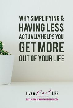 1000 images about the rising spoon posts on pinterest for Benefits of downsizing