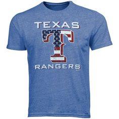 Texas Rangers Stars and Stripes Tri-Blend T-Shirt