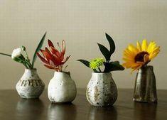 tiny pottery vases