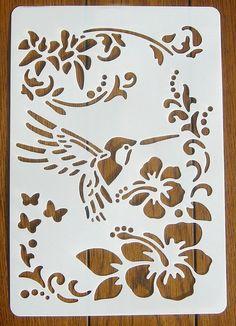 Bird Sparrow Branch Stencil Guide Template Mylar Art Craft Reusable Shabby Chic
