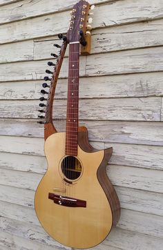 Harp Guitar by Josh Humphrey of JBH Guitars, Ellensburg, WA