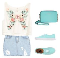 """summer"" by tania-alves ❤ liked on Polyvore featuring moda, SJYP, H&M, Vans e Michael Kors"