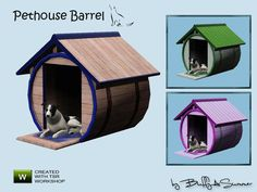 A small set with 8 creations for your cats and dogs. The set contains 3 houses for cats and dogs, 3 beds for cats and / or small dogs, and one bed for big dogs and a Catcondo. Found in TSR...