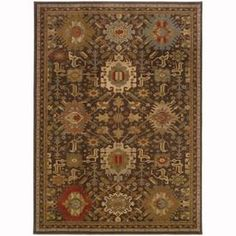 Archer Lane Forest Mink Rectangular Indoor Machine-Made Oriental Area Rug (Common: 6 X 9; Actual: 6.6-Ft W X 9.5-Ft L)