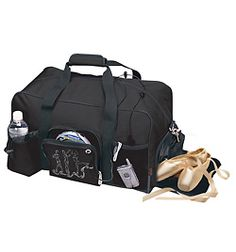 Dancers practically live out of their dance bag- this one has room for everything you need!