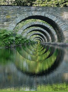 Stone Bridge Optical Illusion, New York