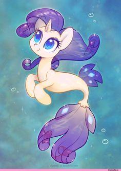 my little pony,Мой маленький пони,фэндомы,mlp art,Rarity,Рэрити,mane 6,seapony