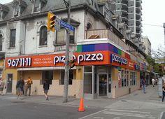 Pizza Pizza Channel letters corner in Toronto Ontario