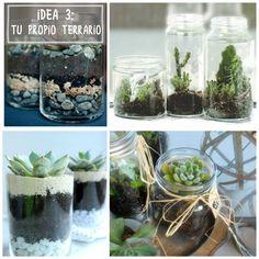 Idea 3 decorar con tarros de cristal