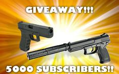 Airsoft GIVEAWAY 5000 subscribers! WIN FREE MK23 / glock G17 WORLDWIDE