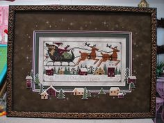 Pattern is Prairie Schooler.  I've stitched this design and love how this one was framed. (kay)