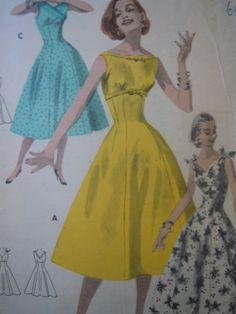 Vintage Original Sewing Pattern Princess Dress by FoxVintageUk, £14.98