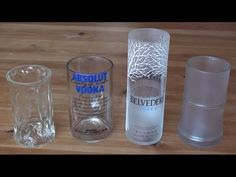 How to make a recycled drinking glass from a vodka bottle - YouTube