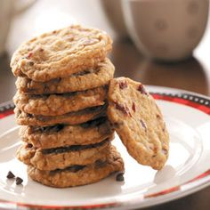 Toffee Cranberry Crisps Recipe from Taste of Home -- shared by Ann Quaema of Lake Geneva, Wisconsin
