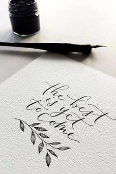 DIY Wedding Invitations: 10 Unusual Ways to Do it Yourself DIY einladungskarten für die Hochzeit<br> Looking for an interesting and unique way to DIY your wedding invitations? We have 10 fabulous techniques that almost anyone can master. Calligraphy Doodles, Calligraphy Handwriting, Calligraphy Letters, Modern Calligraphy Quotes, Islamic Calligraphy, Penmanship, Calligraphy Flowers, Modern Caligraphy, Calligraphy Tattoo