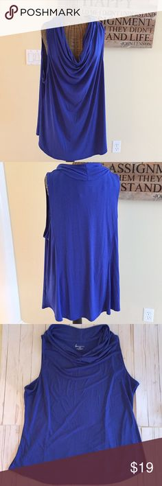 Lane Bryant Blue Sleeveless Top Size 18/20 Lane Bryant Blue Sleeveless Top in Size 18/20. Great condition, see pics for measurements and material. Lane Bryant Tops