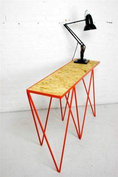 Red Steel Metal Mid-Century Sideboard Vintage Console Industrial Stand Designer | eBay