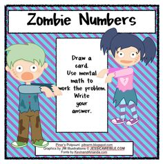 Classroom Freebies: Adding and Subtracting with Zombies