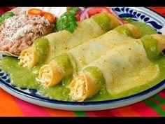 Deliciosas y fáciles Enchiladas Suizas - YouTube