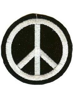 Peace Sign Circle Patch with heat sealed backing. Perfect for leather jackets and leather vests.