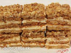 Medové kocky s orechovou grilážou - Rezy sú vynikajúce, vhodné na slávnostné príležitosti.