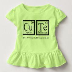 Cute Periodic Table Tee Shirts