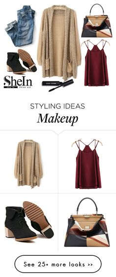 """""""Cardigan"""" by jacky-red on Polyvore featuring Fendi and Bobbi Brown Cosmetics"""