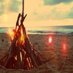 ...bonfire at the beach...