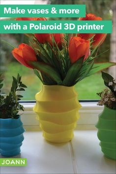 Use your Polaroid 3D printer to make gorgeous home decor like this swirl vase. You can choose from a huge range of colors & designs to create the perfect addition to your favorite room. Order Up, Joanns Fabric And Crafts, Craft Stores, 3d Printer, Polaroid, Craft Projects, Range, Create, Colors