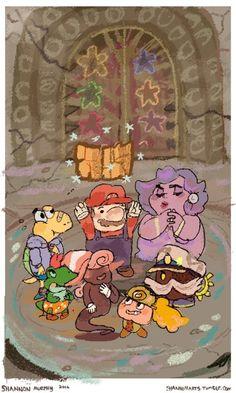 """shannonarts: """" thousand year door """" Super Mario Nintendo, Super Mario And Luigi, Super Mario Art, Super Mario World, Super Mario Brothers, Mario Bros, King Koopa, Super Smash Bros Memes, Paper Mario"""