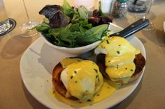 The Simple Treat | Eggs Benny with fresh greens