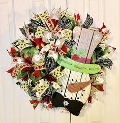 Snowman Wreath Christmas Wreath Whimsical Christmas