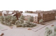 Set within the conservation area of Lichfield, Chapter House is a 38 dwelling residential development designed for retirement living. Social Housing, Architecture Models, Place Card Holders, Architects, Projects, House, Design, Haus, Model Building