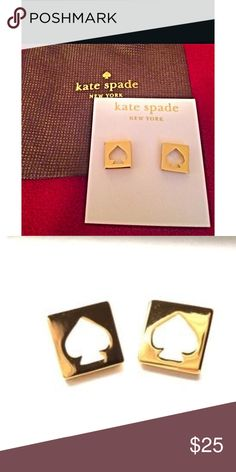 🆕Kate Spade | Gold Spade Earrings 🆕 Beautiful 🆕 gold Kate Spade earrings.  Perfect for any wardrobe. Comes with original dustbag ❤️ kate spade Jewelry Earrings