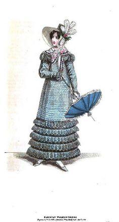 1818 Regency Fashion Plate - Parisian Walking Dress (La Belle Assemblee Magazine) by CharmaineZoe, via Flickr