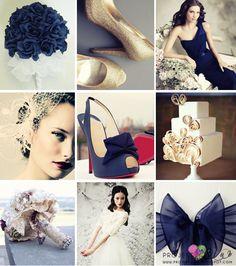 projekt ŚLUB - zaproszenia ślubne, oryginalne, nietypowe dekoracje i dodatki na wesele: Eleganckie i stylowe dodatki ślubne w odcieniach granatu i beżu