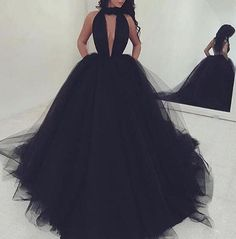 Sexy Black Long Prom Dress - A-Line Deep V-Neck Sleeveless Backless Ruched,Mop the floor long dress