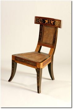 Custom quality Neo classical Hand painted and Gilt Klismos Side chair 500x743 The Klismos Chair