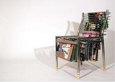 Magazine rack chair.