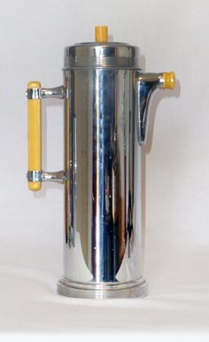 Continental Silver Chrome & Catalin Cocktail Shaker