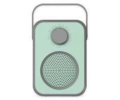 Blue Retro Portable Bluetooth Speaker Wireless Speakers, Bluetooth, Built In Speakers, Disco Ball, True Colors, Crisp, Birthday Wishlist, Technology, Tecnologia