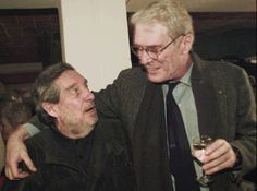 Mark Strand, right, meets with Octavio Paz, a Mexican writer, in Mexico City in 1995.