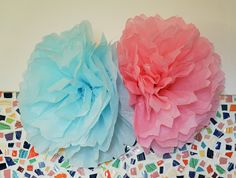 Tissue Paper Flower Party Decorations at ThinkCrafts.com