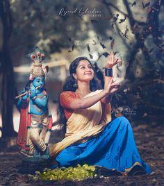 Pre Wedding Poses, Wedding Couple Poses Photography, Couple Photoshoot Poses, Saree Photoshoot, Girl Photography Poses, Photoshoot Ideas, Cute Krishna, Radha Krishna Photo, Krishna Photos