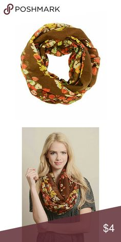 "Leto Collection Women's Autumn Leaf Infinity Scarf 100% Polyester 35"" x 35"" Urbana Accessories Scarves & Wraps"