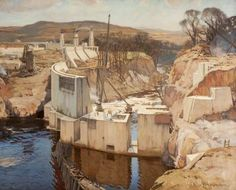 Charles Oppenheimer (1875-1961) - Harnessing the Dee, Galloway, 1934