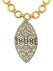 ART DECO PENDANT NECKLACE from Lizzy Couture on Taigan
