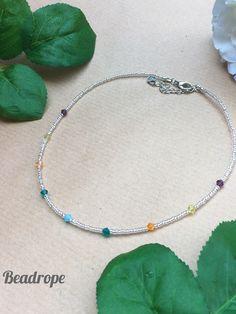 Colored Choker, Small Choker, Beaded Choker, Beaded Necklace, Colored necklace Beaded Choker, Glass Necklace, Necklace Lengths, Seed Beads, Chokers, Detail, Stylish, Shop, Gifts