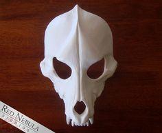 Wolf Skull Mask Blank Cast Resin Skull Canine by RedNebulaCosplay