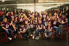 Football, mom and son pictures, senior group